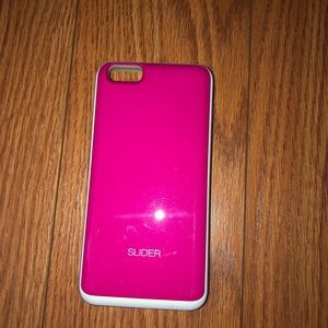 Design Skin Pink Card Holder IPhone 6/7 Plus Case